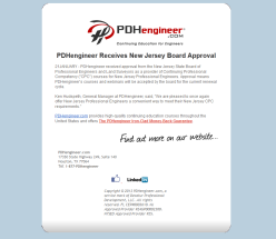 PDHengineer NJ Approval Announcement